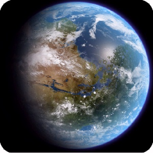 Artist's Rendering of Terraformed Mars